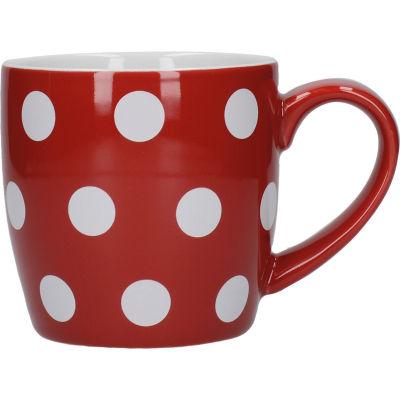 London Pottery Globe Mug Red White Spot
