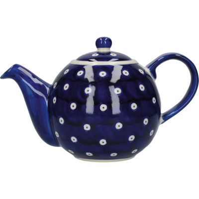 London Pottery Out Of The Blue 4-Cup Teapot Blue & White Circles