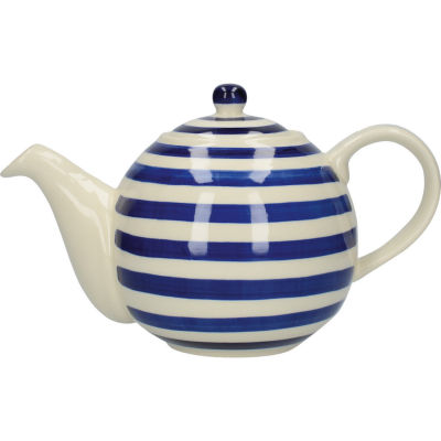 London Pottery Out Of The Blue 4-Cup Teapot Blue Band