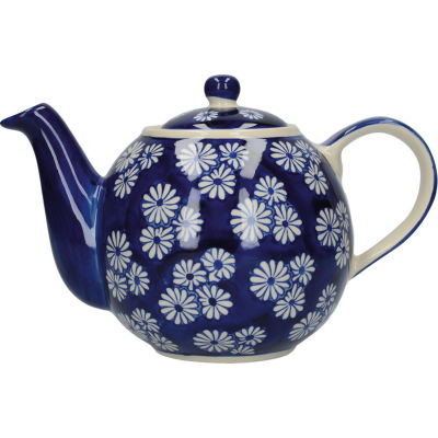 London Pottery Out Of The Blue 4-Cup Teapot Daisies