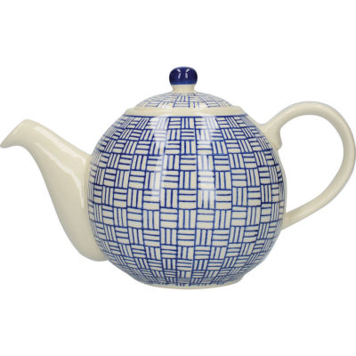 London Pottery Out Of The Blue 4-Cup Teapot Lattice