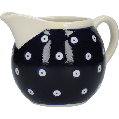 London Pottery Out Of The Blue Cream Jug & Sugar Basin Set Of 2 Blue & White Circles