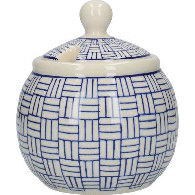 London Pottery Out Of The Blue Cream Jug & Sugar Basin Set Of 2 Lattice