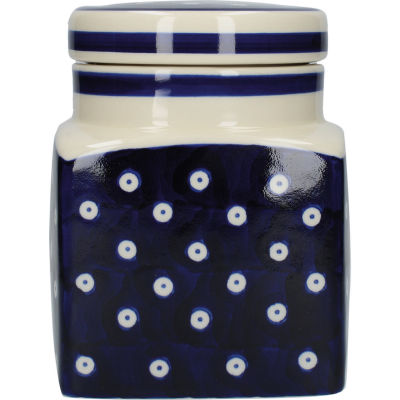 London Pottery Out Of The Blue Storage Jar Blue & White Circles