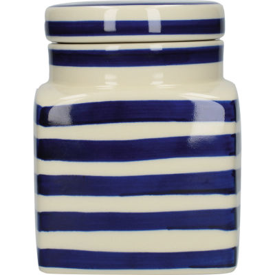 London Pottery Out Of The Blue Storage Jar Blue Band