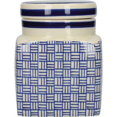 London Pottery Out Of The Blue Storage Jar Lattice
