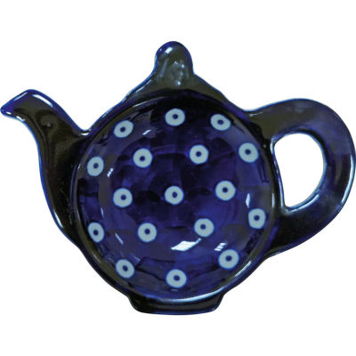 London Pottery Out Of The Blue Teabag Tidy Blue & White Circles
