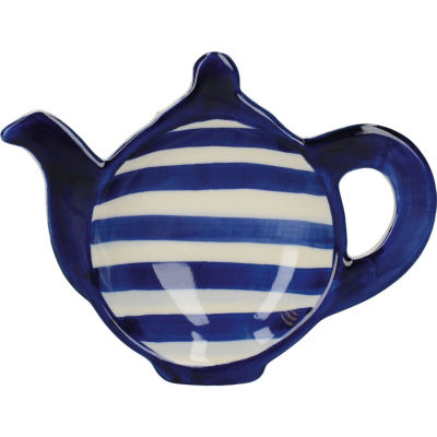 London Pottery Out Of The Blue Teabag Tidy Blue Band