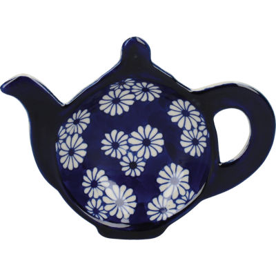 London Pottery Out Of The Blue Teabag Tidy Daisies