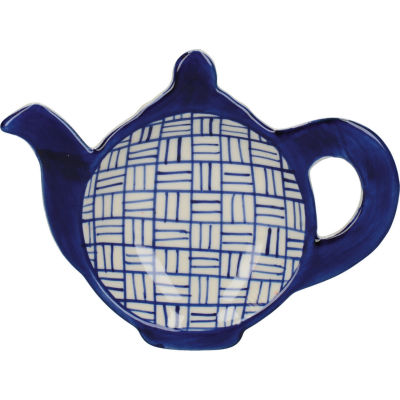 London Pottery Out Of The Blue Teabag Tidy Lattice