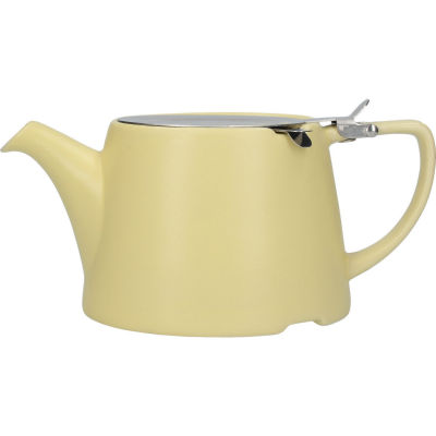 London Pottery Oval Filter 3-Cup Oval Filter Teapot Satin Buttercup