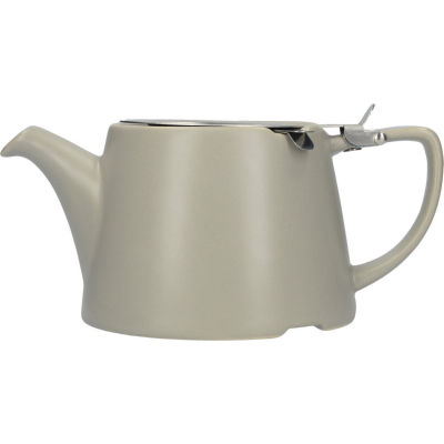 London Pottery Oval Filter 3-Cup Oval Filter Teapot Satin Grey