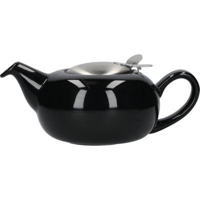 London Pottery Pebble Filter 2-Cup Teapot Gloss Black