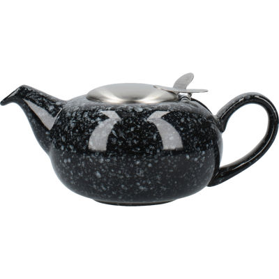 London Pottery Pebble Filter 2-Cup Teapot Gloss Flecked Black