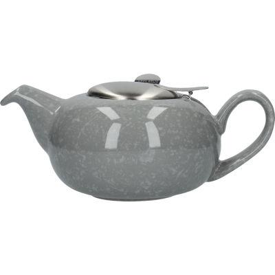 London Pottery Pebble Filter 2-Cup Teapot Gloss Flecked Grey
