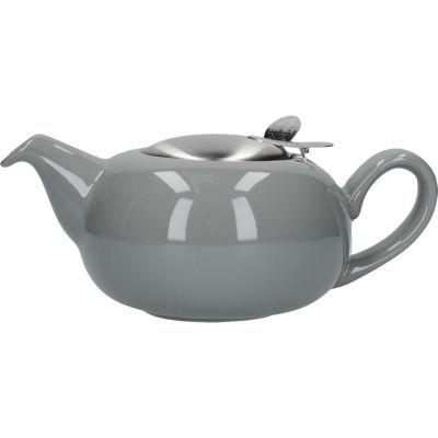 London Pottery Pebble Filter 2-Cup Teapot Gloss Light Grey