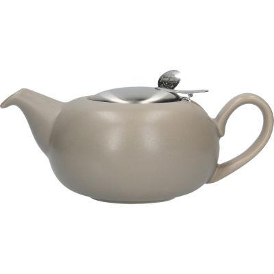 London Pottery Pebble Filter 2-Cup Teapot Matt Putty