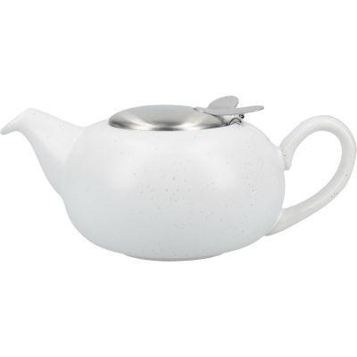 London Pottery Pebble Filter 2-Cup Teapot Matt Speckled White