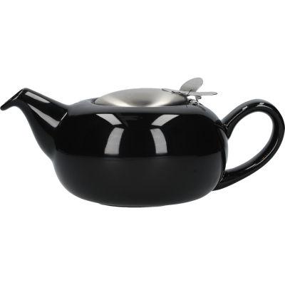 London Pottery Pebble Filter 4-Cup Teapot Gloss Black