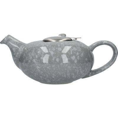 London Pottery Pebble Filter 4-Cup Teapot Gloss Flecked Grey
