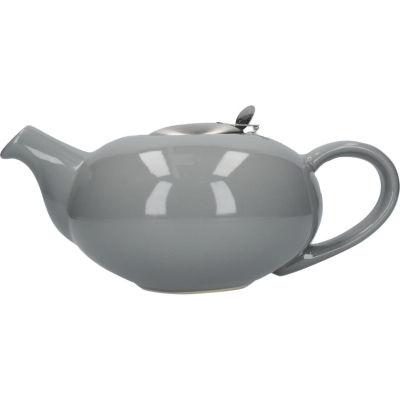 London Pottery Pebble Filter 4-Cup Teapot Gloss Light Grey