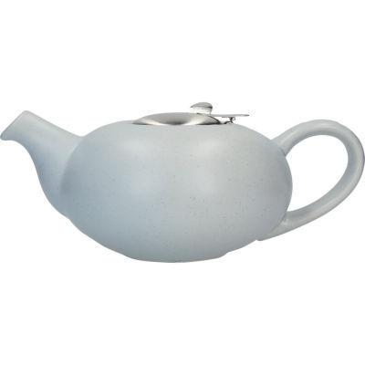 London Pottery Pebble Filter 4-Cup Teapot Matt Flecked Light Blue