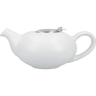 London Pottery Pebble Filter 4-Cup Teapot Matt Speckled White