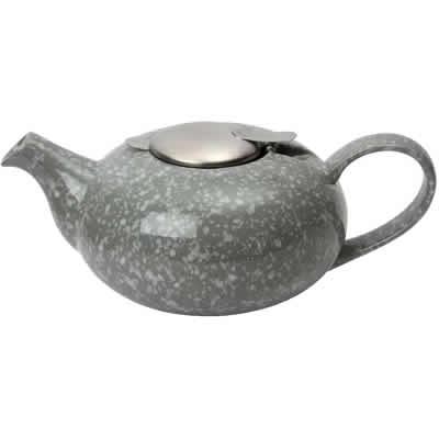 London Pottery Pebble Teapots 4-Cup Teapot Flecked Grey