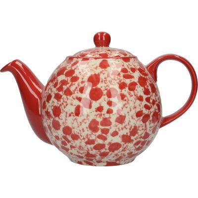 London Pottery Splash 4-Cup Teapot Splash Red