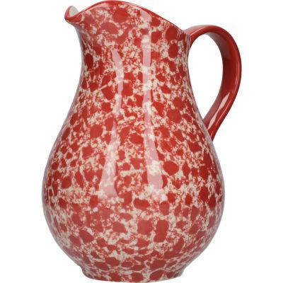London Pottery Splash Jug Large Splash Red