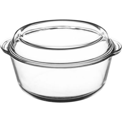 Mason Cash Classic White Cookware Covered Casserole Dish Large Glass