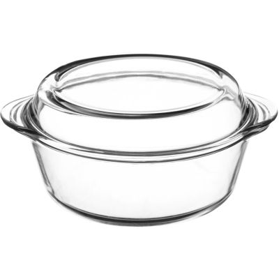 Mason Cash Classic White Cookware Covered Casserole Dish Medium Glass