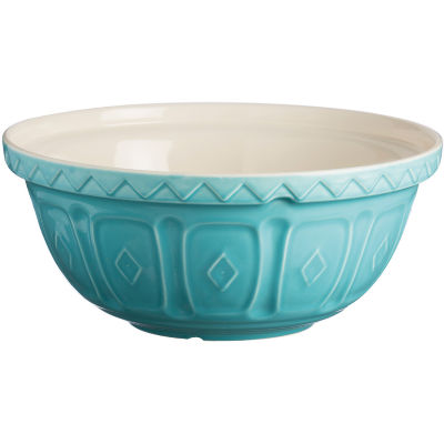 Mason Cash Home Baking Colour Mix Mixing Bowl 24cm Turquoise Blue