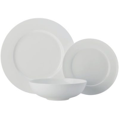 Maxwell & Williams Cashmere White Dinner Set Rim 12 Piece