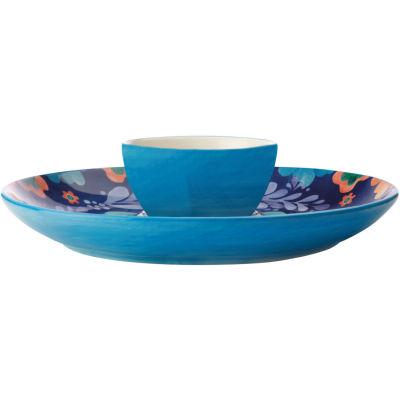 Maxwell & Williams Majolica Chip & Dip Serving Platter 30cm Ink Blue