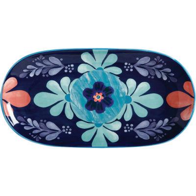 Maxwell & Williams Majolica Oblong Serving Platter 33cm Ink Blue