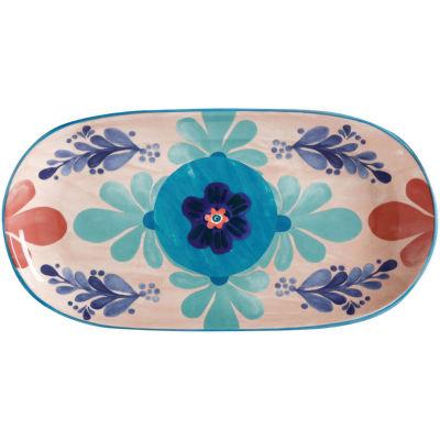 Maxwell & Williams Majolica Oblong Serving Platter 33cm Peach