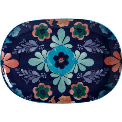 Maxwell & Williams Majolica Oval Serving Platter 40cm Ink Blue