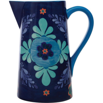 Maxwell & Williams Majolica Pitcher Jug Large Ink Blue