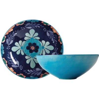 Maxwell & Williams Majolica Round Serving Bowl 31cm Ink Blue