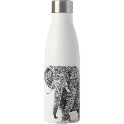 Maxwell & Williams Marini Ferlazzo Insulated Bottle 0.5L Monochrome African Elephant
