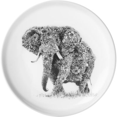 Maxwell & Williams Marini Ferlazzo Plate 20cm Monochrome African Elephant