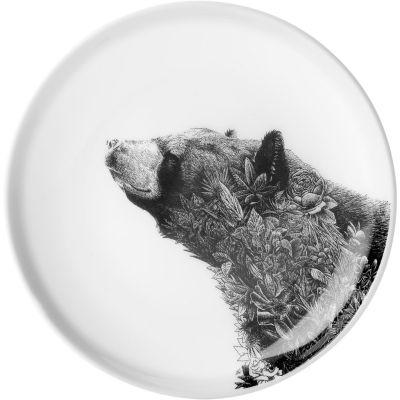 Maxwell & Williams Marini Ferlazzo Plate 20cm Monochrome Asiatic Black Bear