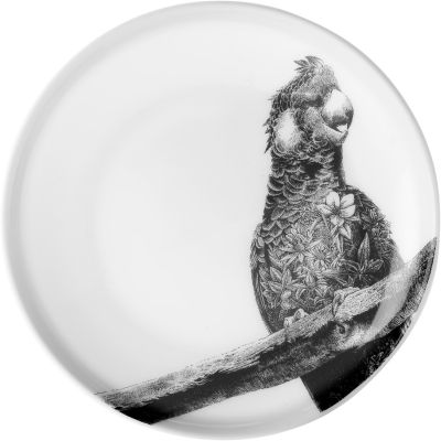 Maxwell & Williams Marini Ferlazzo Plate 20cm Monochrome Carnaby's Cockatoo