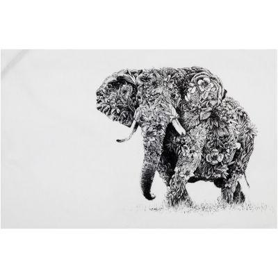 Maxwell & Williams Marini Ferlazzo Tea Towel Monochrome African Elephant