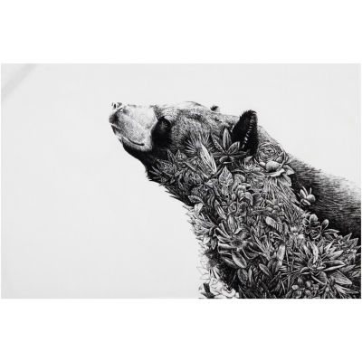 Maxwell & Williams Marini Ferlazzo Tea Towel Monochrome Asiatic Black Bear