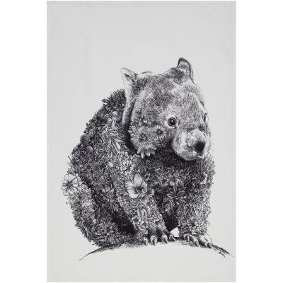 Maxwell & Williams Marini Ferlazzo Tea Towel Monochrome Wombat