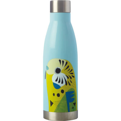 Maxwell & Williams Pete Cromer Insulated Bottle 0.5L Budgerigar