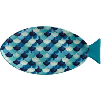 Maxwell & Williams Reef Serving Platter Fish 40cm Scales