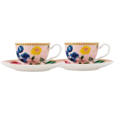 Maxwell & Williams Teas & Cs Contessa Espresso Cup & Saucer Set of 2 Rose